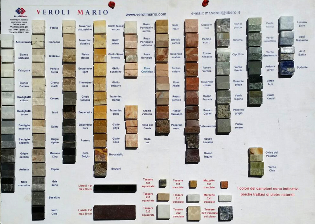 Tessere per mosaico